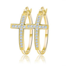 Effie Queen большие серьги-кольца для женщин, Корейская винтажная серьга Ювелирная застежка золотистого цвета DOE137(Китай)