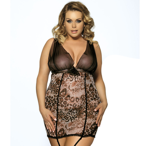 Ready stock 4 colors available hot nighties fashion plump women sexy mature plus size lingerie