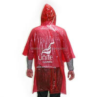 Custom active promotional emergency disposable poncho/raincoat poncho promotional