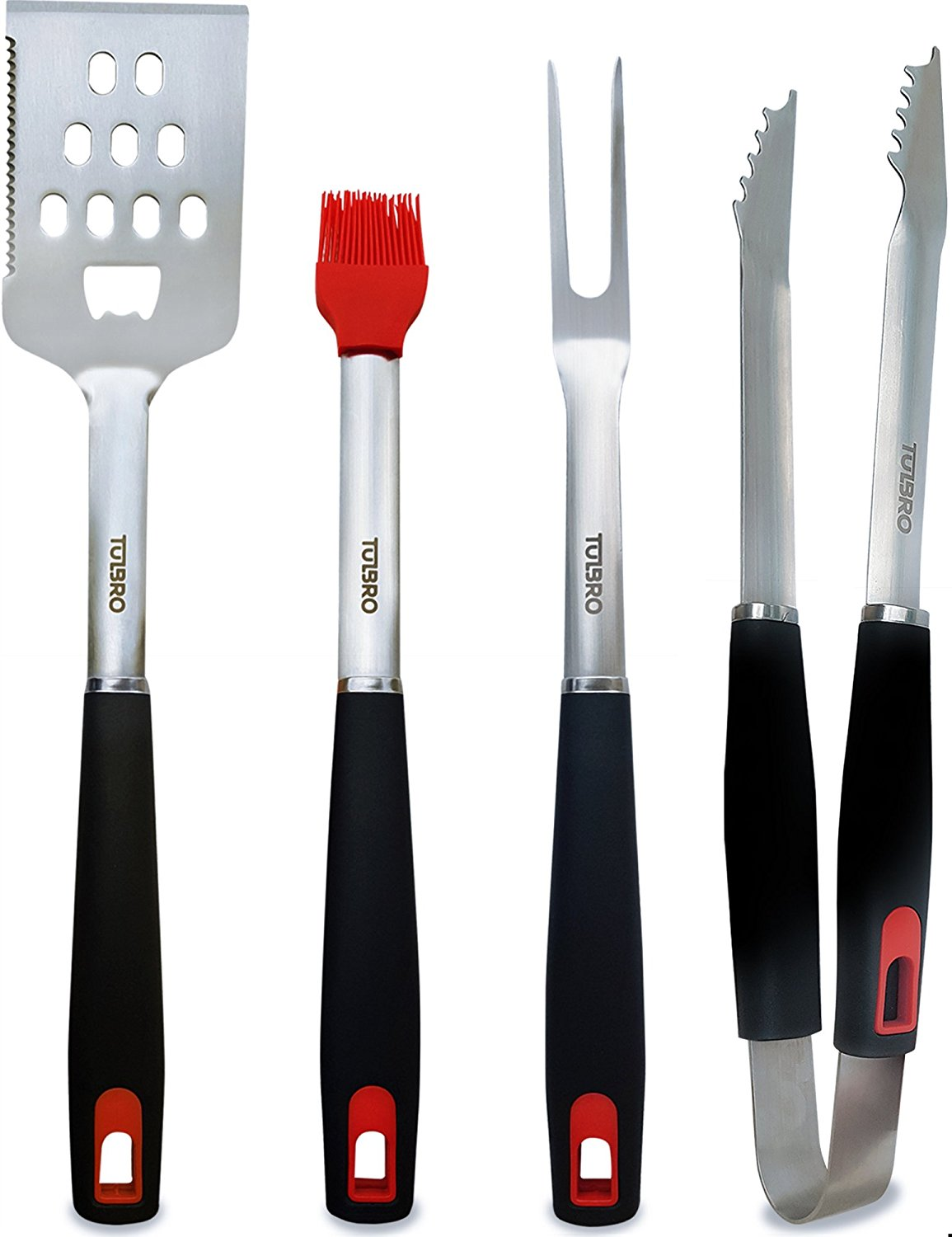 Get Quotations Bbq Grill Tools Set Heavy Duty Stainless Steel Accessories Spatula Fork