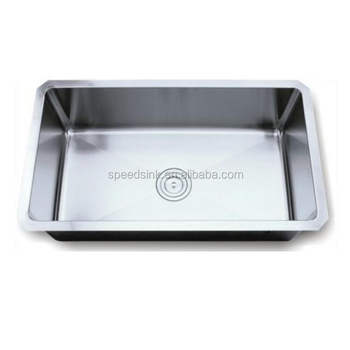 handmade kitchen stainless steel sink unit with clips and strainer