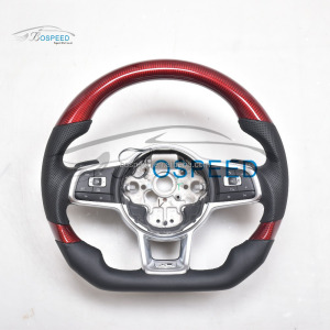 Bospeed customize Carbon Fiber wrapped Steering Wheel For VW Golf 7R /MR7 Rline