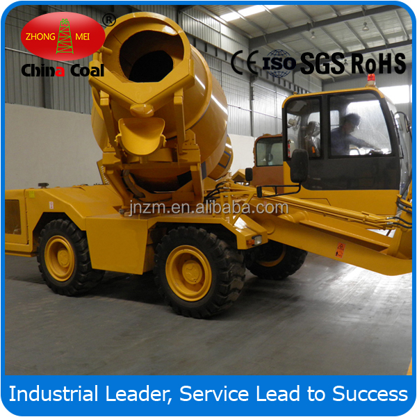 14 cubic meters/hour Mobile Self Loading Mobile Concrete Mixer FM3.5-3