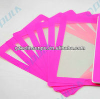 red colored printing screen protectors for i PAD 2/3/4, colored printing screen guard