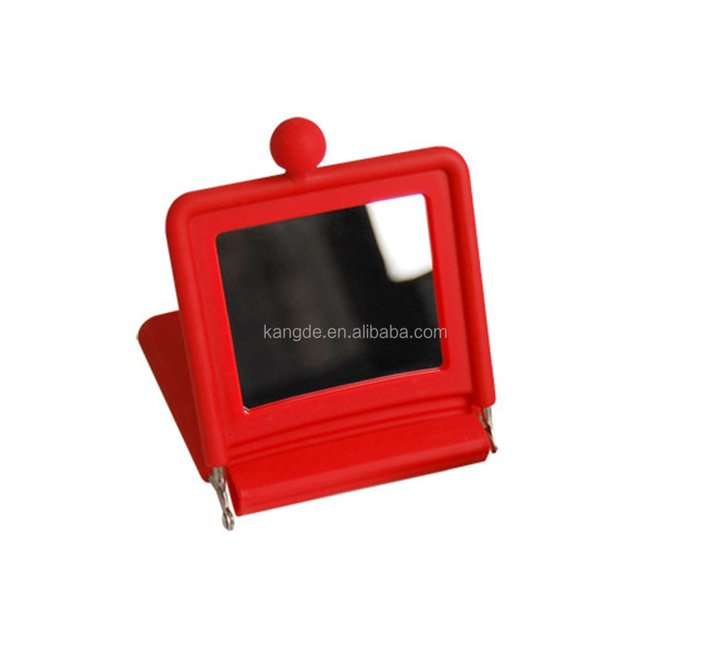 Mini Square Two Way Mirror with Silicone Case
