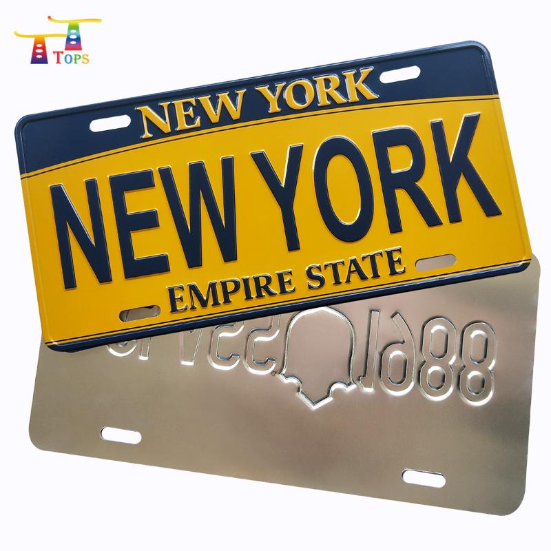 custom high quality cheap price printed aluminum car license plate
