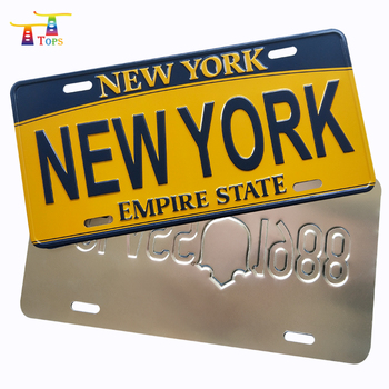 custom high quality cheap price printed aluminum car license plate
