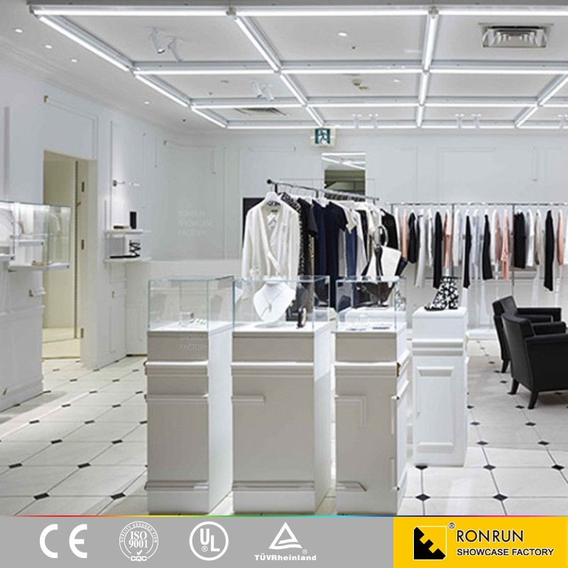 modern retail furniture. 2017 hot sale modern retail clothing store furniture counters wooden garment display stand design