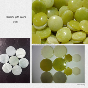 different size and shapes of Natural Jade stone slices ,tourmaline round/hexagonal piece stone for mat/bed