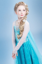 HOT Sell Custom Anna Elsa Girls Princess Dress Kids Party Vestidos Baby Children Cosplay Girl Dresses Wedding Pincess Dresses