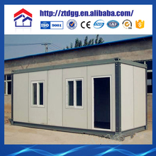 Container house with corrugated copper roof