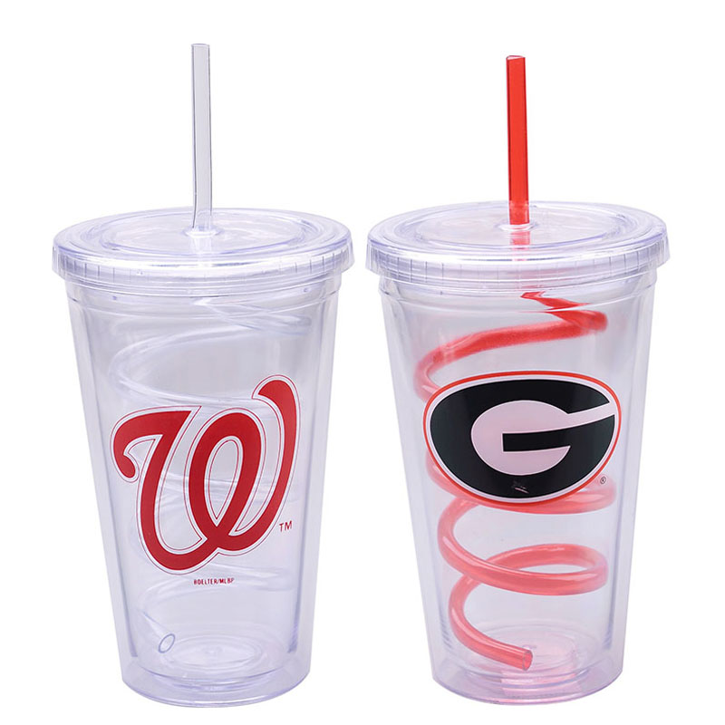 Led Flashing Giant Inflatable Tumbler With Lid And Straw