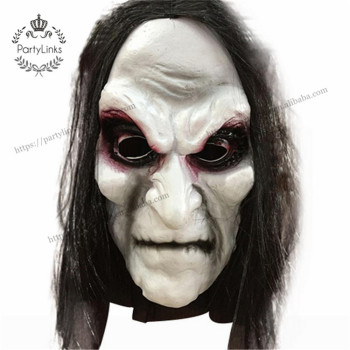 Halloween Zombie Props Grudge Ghost Hedging Zombie Mask Realistic Masquerade Halloween Mask Long Hair Ghost Scary Latex Mask
