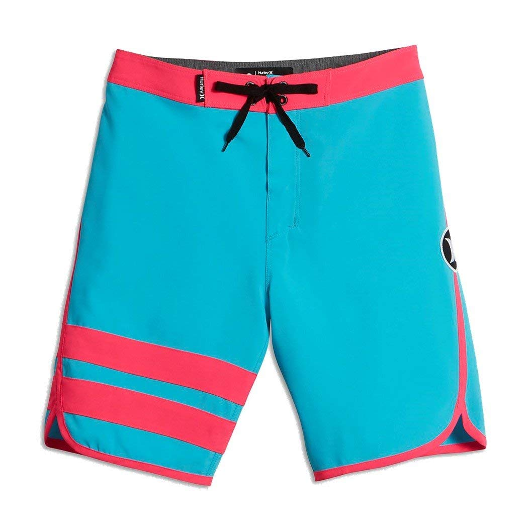 433a4176f8 Get Quotations · Hurley Big Kids' (Boys') Print Reveal Block Party Board  Shorts