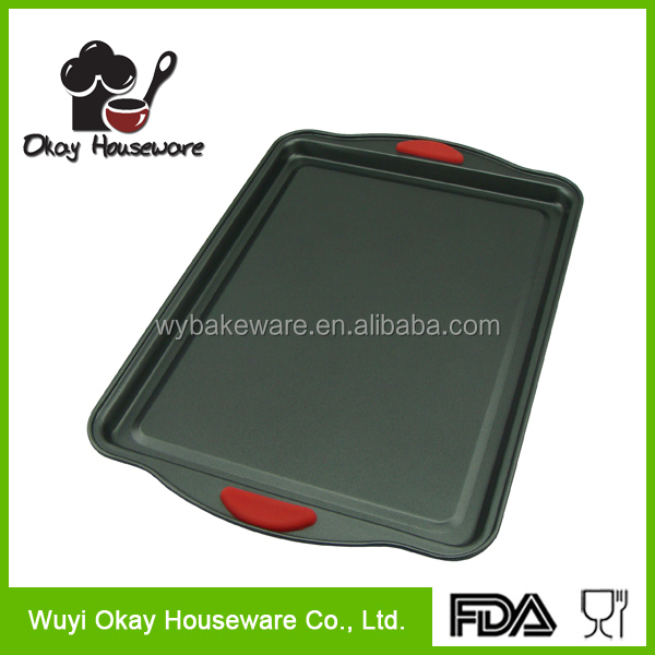 OKAY BK-D5025S Oven Baking Tray Tin Sheet 38 x25cm Non Stick Carbon Steel Bakeware New