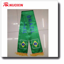 NX mini banner soccer fan scarf, custom print knitted football scarf