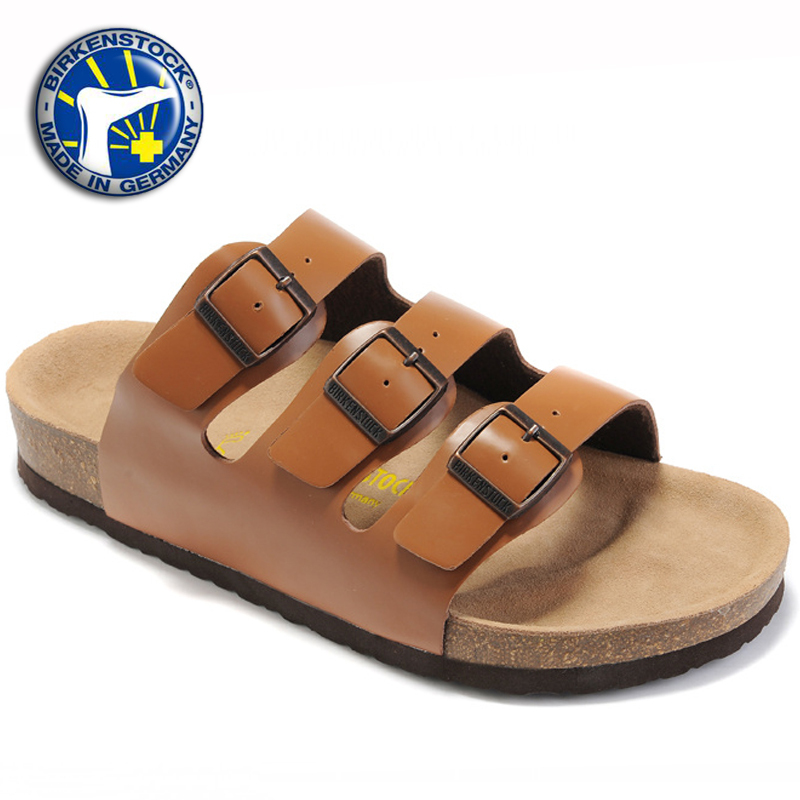 d6540e636b1 Buy 2015 Birkenstock Sandals New Color Birkenstock Florida Sandals Women  Sale cheap price casual three solid leather Summer slippers in Cheap Price  on ...