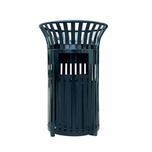Garden black cast iron 45l dustbin with ashtray