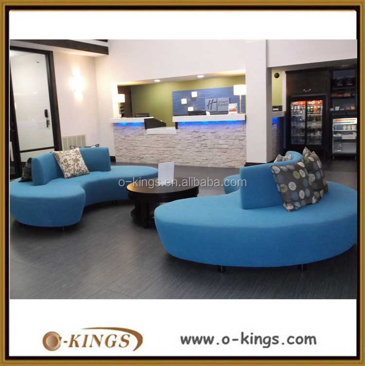 2016 modern circle sofa set designs for hotel lobby furniture
