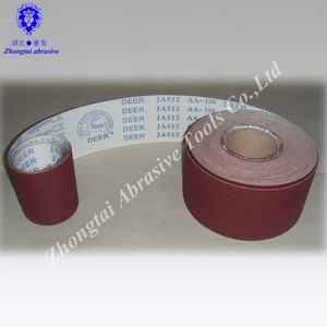 1.4m*50m deer brand JB-5 soft abrasive cloth roll used by hand