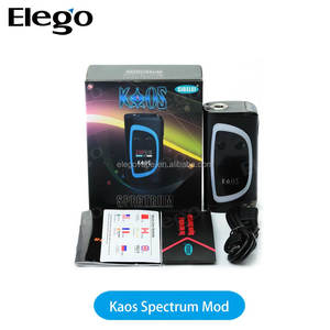 "2017 Authentic Sigelei Kaos Spectrum 230W 0.96"" TFT Color Display Screen VV VW Dual 18650 Box Mod"