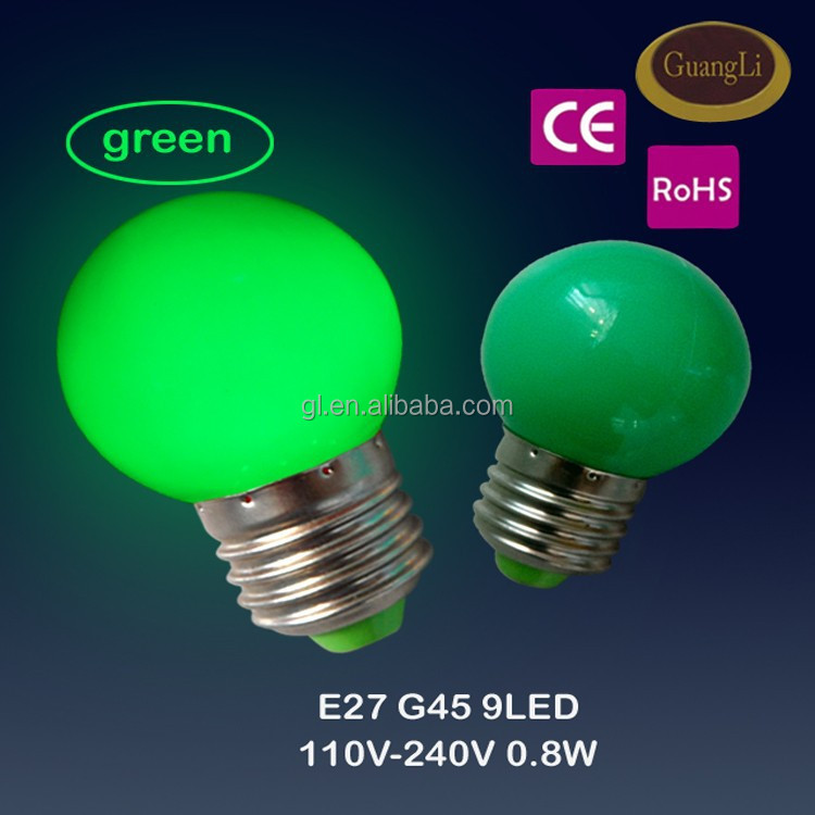 HOT GL BRAND christmas title color decoration bulb G45 LED Lamp