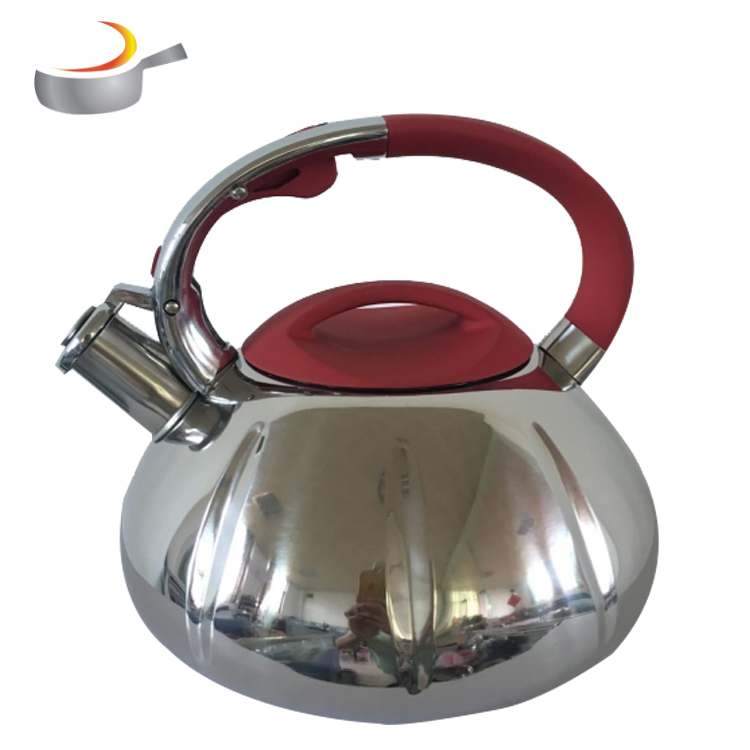 2019 fancy cheap retro colorful fixed wood handle color painting 3L whistling kettle tea infuser kettle