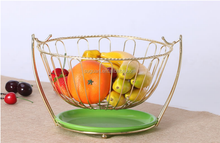 Wholesale cheap metal wire hanging fruit holder storage fruit basket with net cover