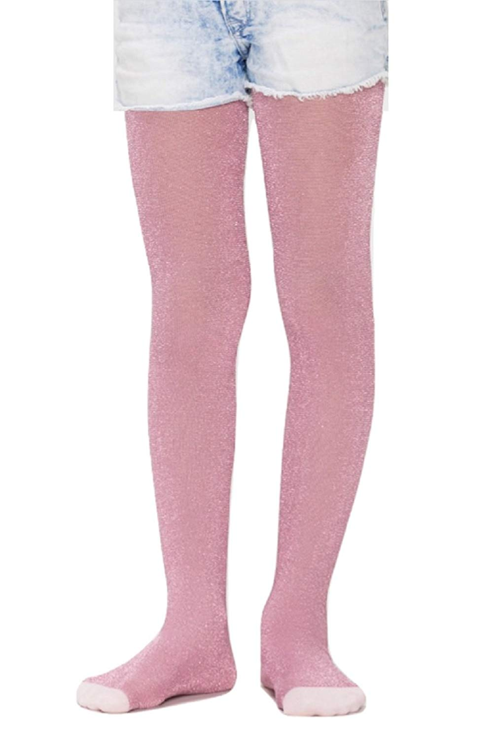 ec734f395396a Get Quotations · Penti Pretty Glitter 80 Den Girls Footed Tights