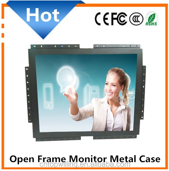 OEM 19 inch TFT LCD Open Frame Capacitive Touch Screen Monitor Resistive/SAW/Infrared Touch Optional