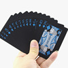 Custom Printing Golden Playing Cards Waterproof Plastic Black Color Classic Magic Tricks Tool Games Gift Poker Card