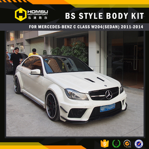 Excellent quality model for C Class Coupe C63 W204 sedan new style balck-series body kit front bumper with carbon Spoiler