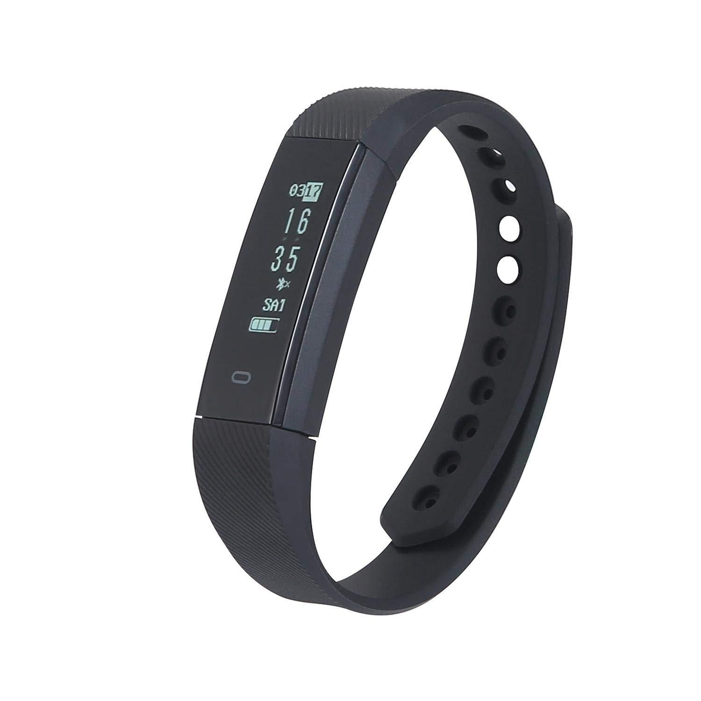 KOBWA Waterproof Fitness Tracker - Smart Pedometer Watch - Bluetooth Outdoor Fitness Sport Smart Wrist Watch - Activity Tracker - Sleep Monitor, Sedentary Alert for Android & IOS