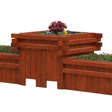 Trough Rectangle Wooden Street Planter Flower Plant Box Pot