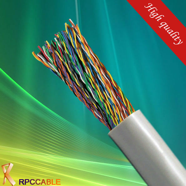 iso9001 lighting plastic optical fiber cable telephone cable for communication