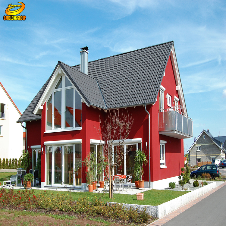China small steel frame villa sip living prefabricated house