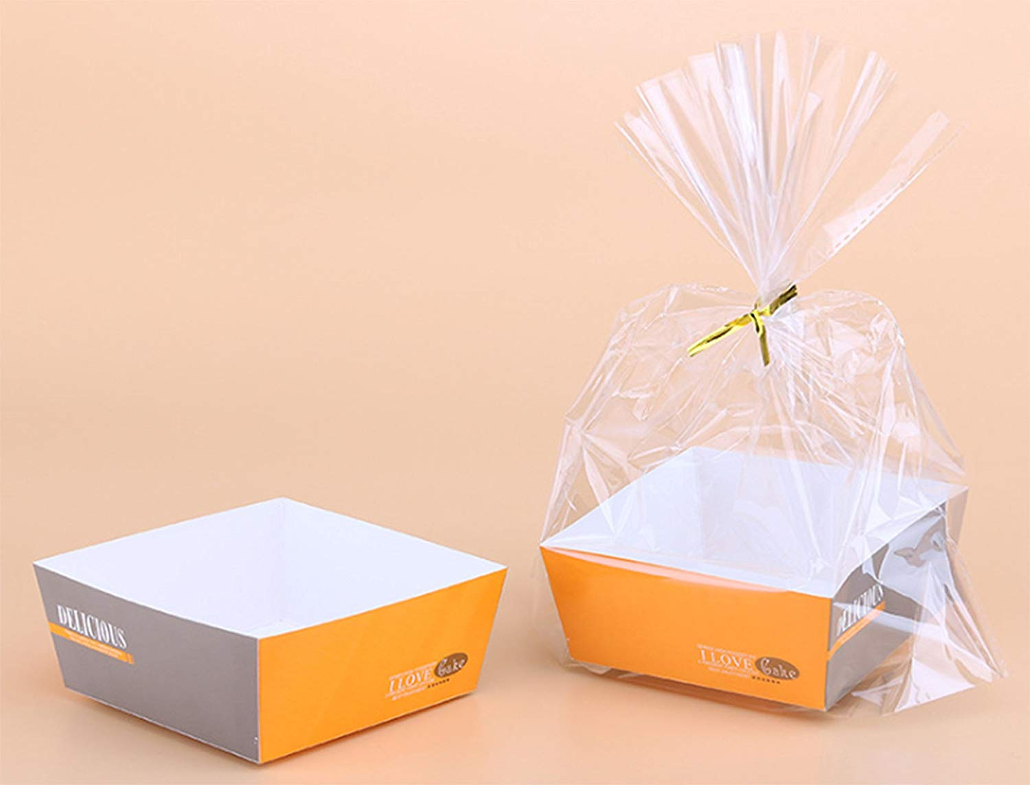 Get Quotations T Clear Plastic Bags For Toast Bread Cookies Candy Gift Packaging With Tray And