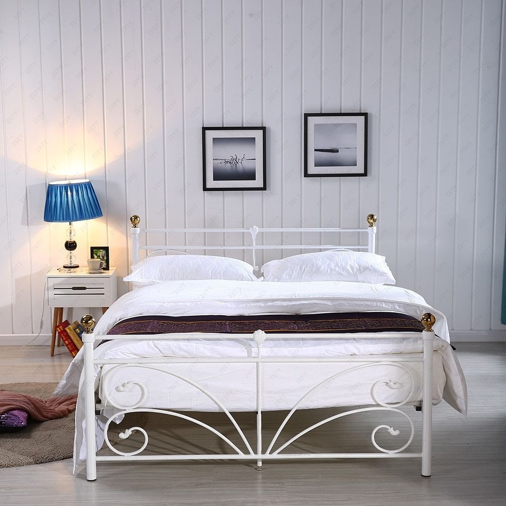 new modern wooden slatted double bed designs simple european bed frame on sales - European Bed Frame