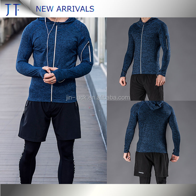 wholesale fitness OEM men ziper Workout jacket high quality compression sports jacket