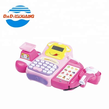 Bo Kids Pretend Supermarket Play Toy Cash Register With Microphone