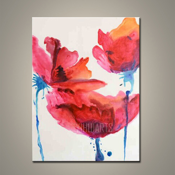 Handmade Modern Abstract Flower chinese calligraphy and painting