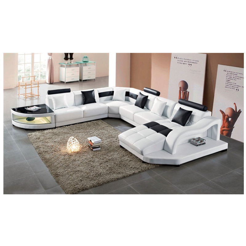 luxury antique reclining leather sofa bed sectional modern living room leather sofa sets factory supplier