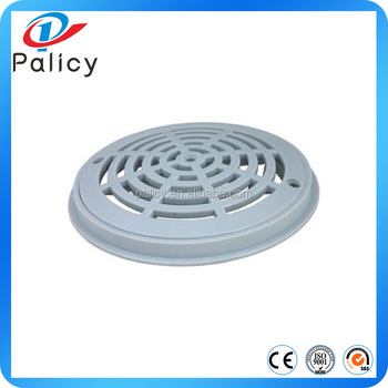 8 white round plastic swimming pool main drain cover - Swimming pool main drain cover replacement ...