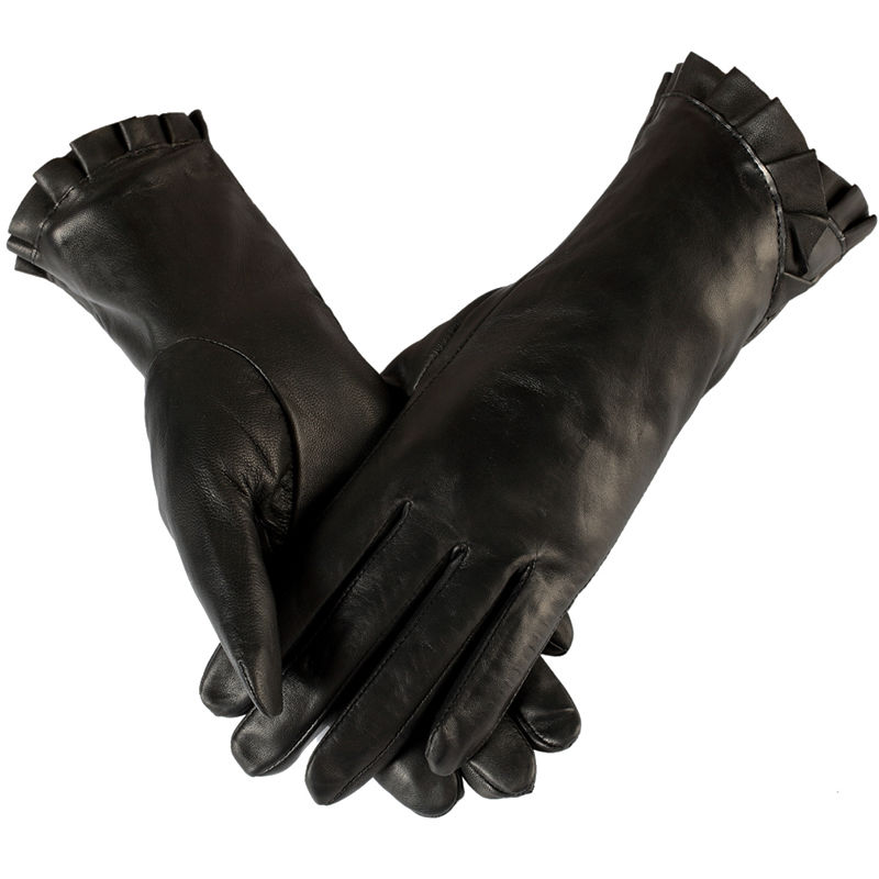 2015 classic style female gloves leather gloves black female female style fashion ladies gloves Sheepskin women leather gloves