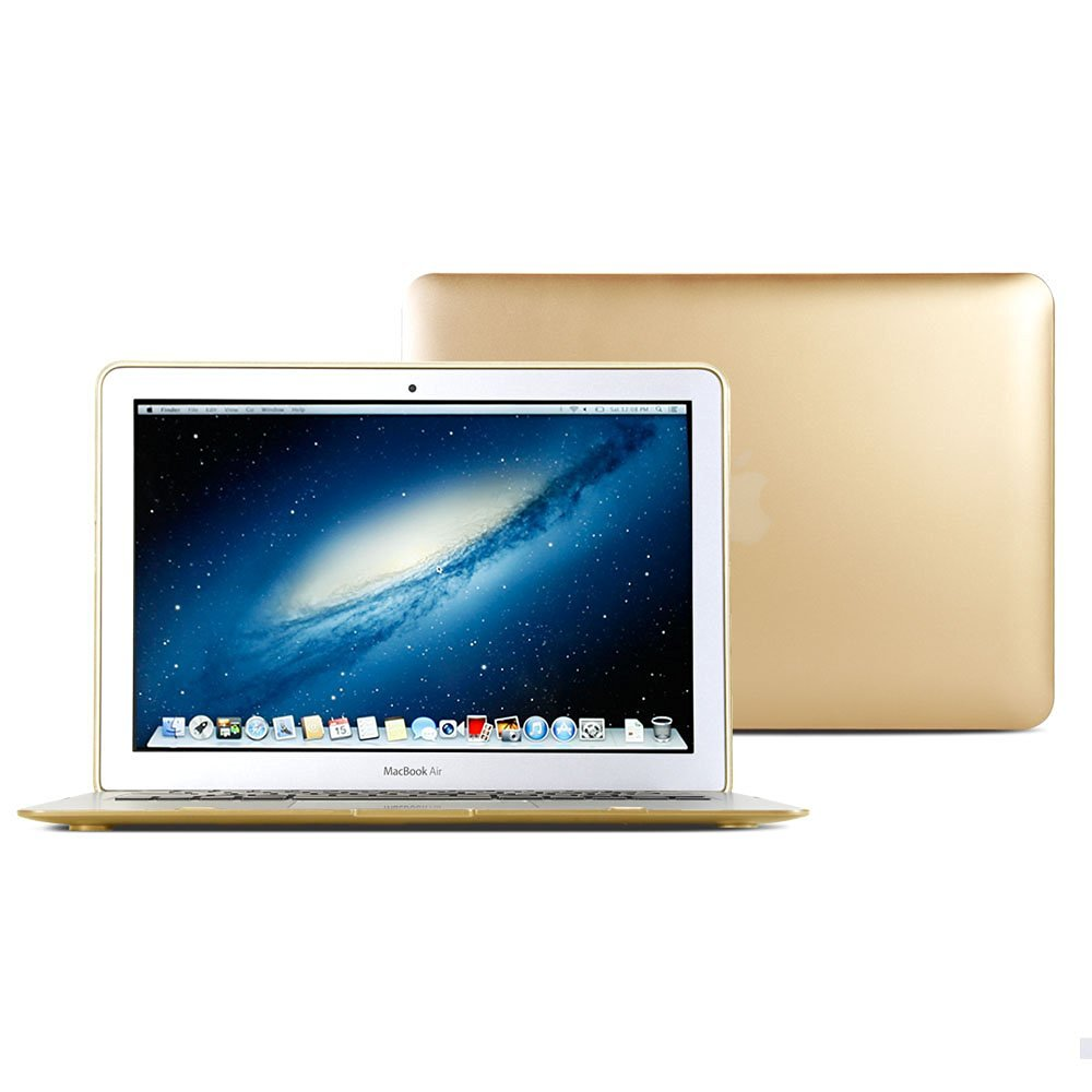 Macbook Air 13 Case, GMYLE Hard Case Metallic Color for Macbook Air 13 inch - Metallic Champagne Gold Polycarbonate Cover