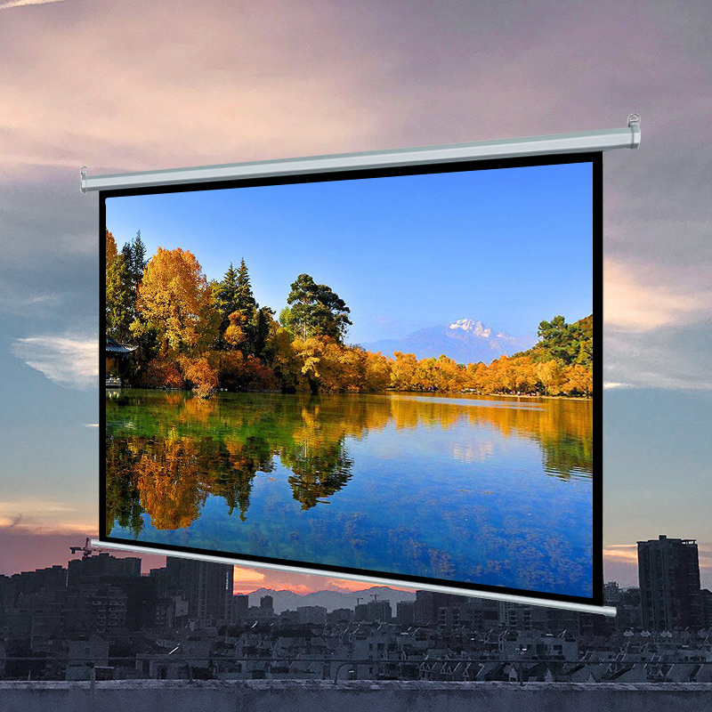 Professional Manufacturer Factory Direct selling 72 inch 4:3 Electric Projector Screen Best for Home Cinema Business School