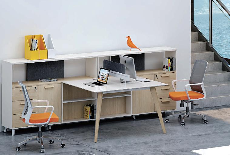 Moderne meubles de bureau en bois t forme bureau sièges bureau