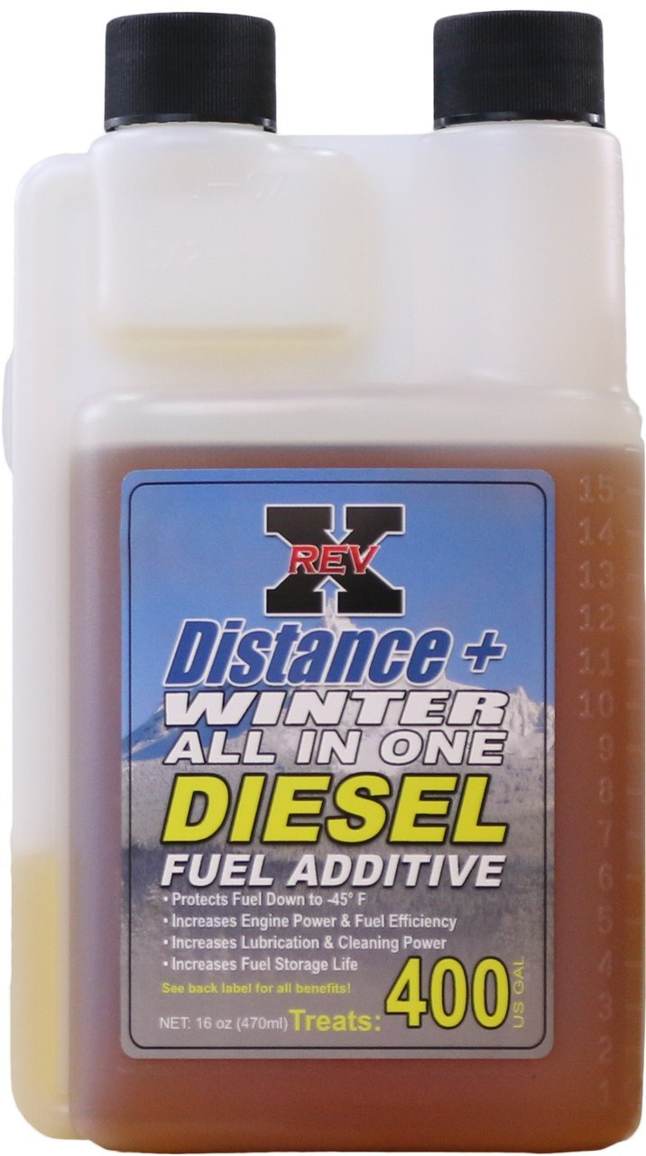 REV X Distance+ Winter Diesel Fuel Additive (-45°) - 16 fl. oz. Treats 400 Gallons