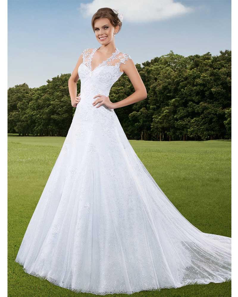 Vestido De Noiva Plus Size Princesa Vintage Lace Wedding ...