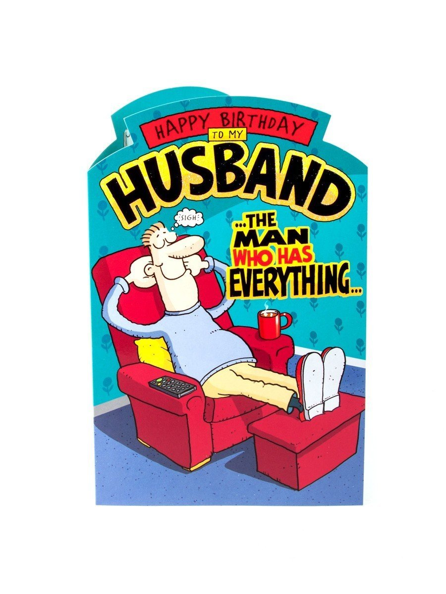 Buy Happy Birthday Husband Humour Birthday Greetings Card In
